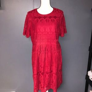 Women's forever 21 plus lace dress 1X